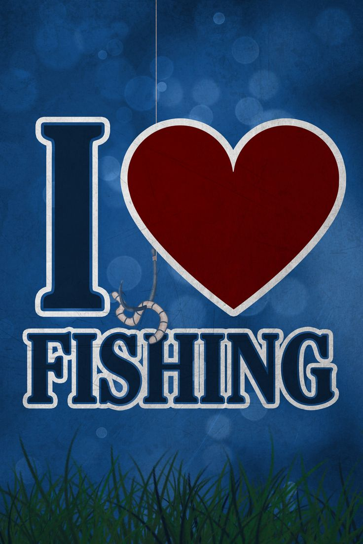 """If you are passionate about fishing and need some decoration for your man cave or garage, this sign is perfect for you! It's even a great gift! An underwater scene and a quote saying: """"I *Heart* Fishi"""