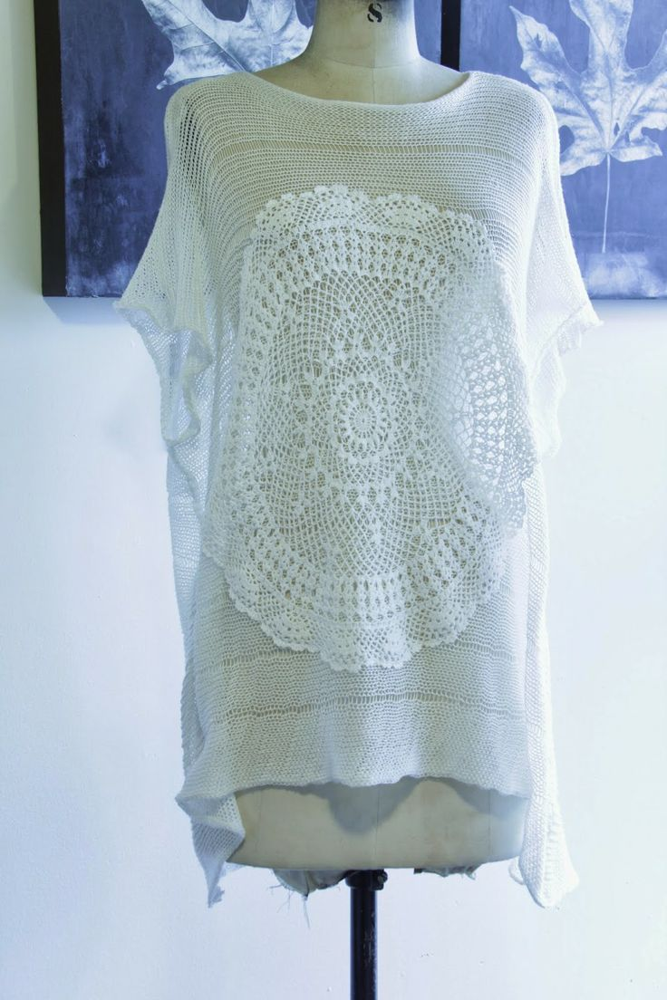 Cotton Knit Top and Lace