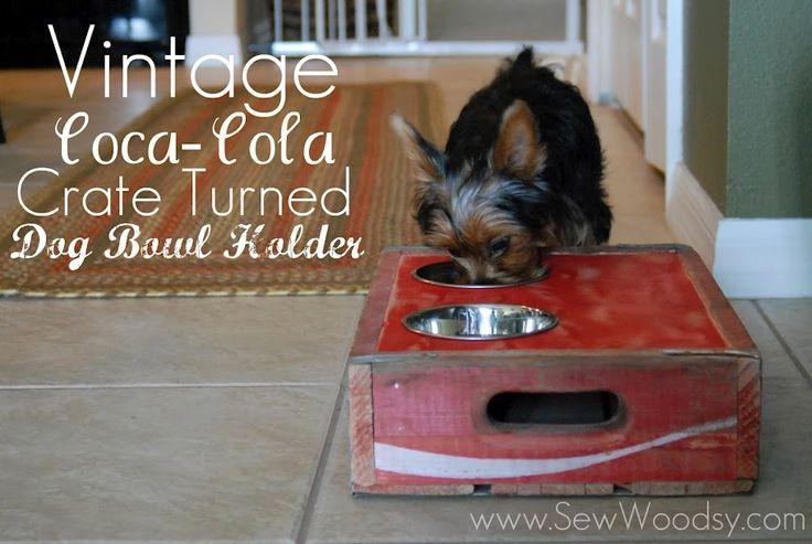 Vintage coca-cola crate turned dog bowl!