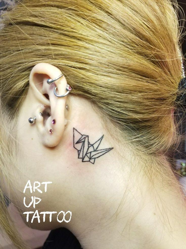 #tattoo #tattoos #tattooart #tattooartist #tattooshop #art #bodyart #ink #origami #bird #OnePoint #タトゥー #タトゥースタジオ #インク #アート #ボディアート #アートアップタトゥー #折り紙デザイン #折り鶴 #鳥 #ワンポイント #耳裏タトゥー #東京タトゥー #日野タトゥー #祐 #女性 #女性彫師