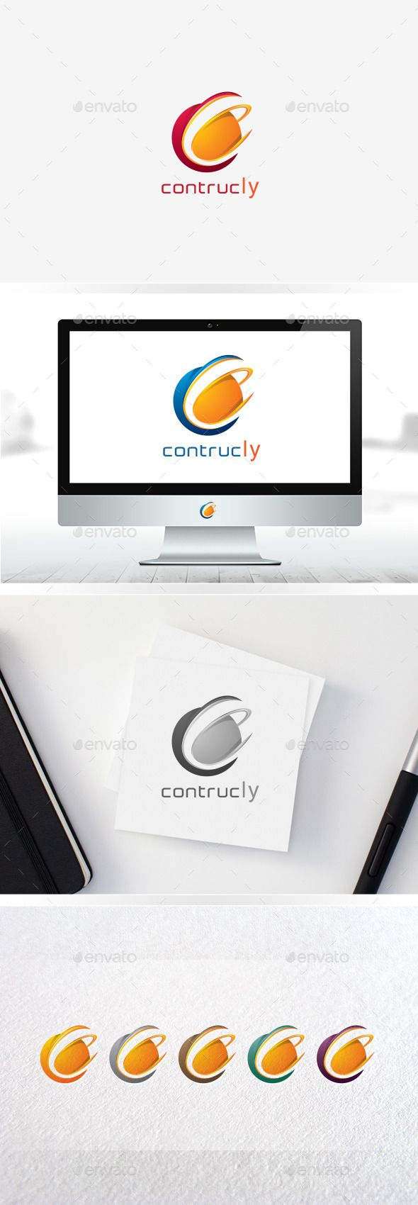 Circle C / Letter C / Logo C / 3D Logo Templates - Logo Templates