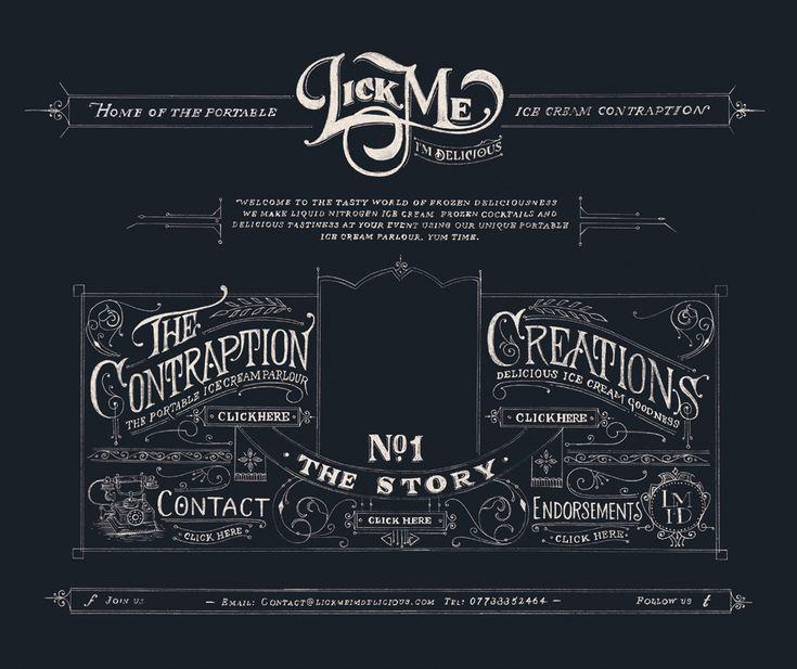 Lick Me...Website Mock-up  by Tom Lane: Webdesign, Design Inspiration, Typographic Website, Website Mock Up, Website Design, Web Design Layouts, Design Web