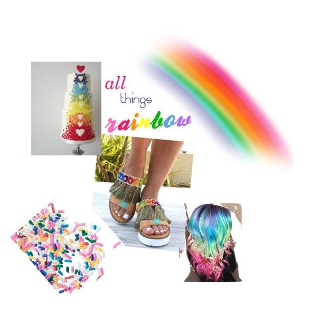 """""""all things rainbow"""" by lola35fab on Polyvore"""