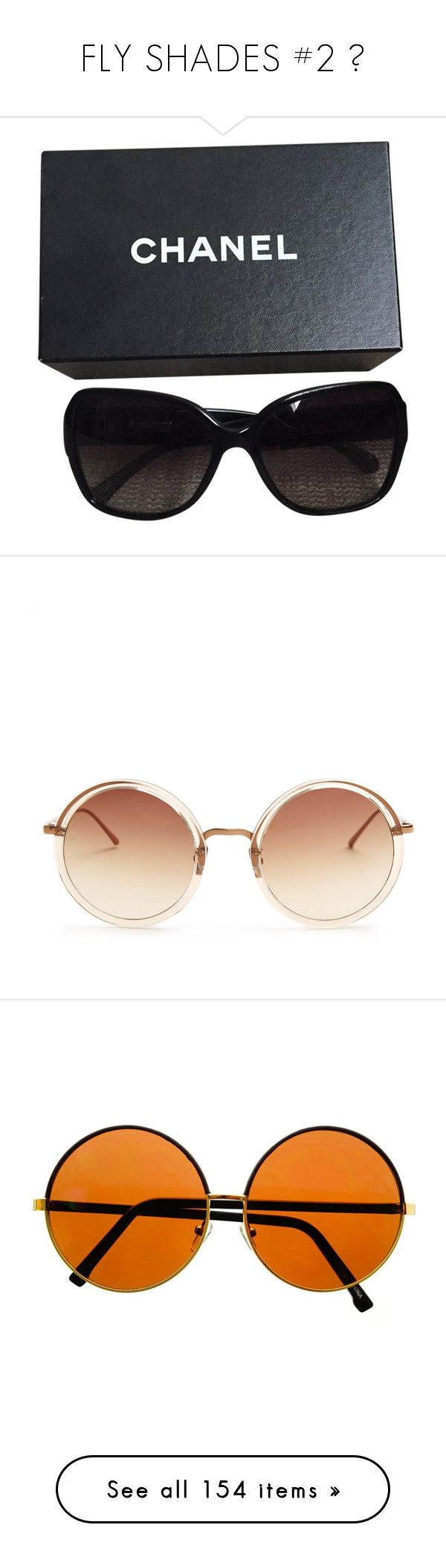 """FLY SHADES #2 🌹"" by theonlydej ❤ liked on Polyvore featuring accessories, eyewear, sunglasses, glasses, black, chanel, chanel sunglasses, chanel eyewear, chanel glasses and oculos"