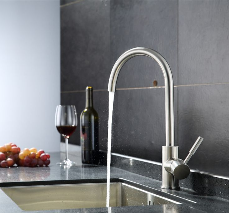 Free shipping 304 stainless steel kitchen sink faucet by stainless steel water faucet of hot cold kitchen mixer tap bathroom paint