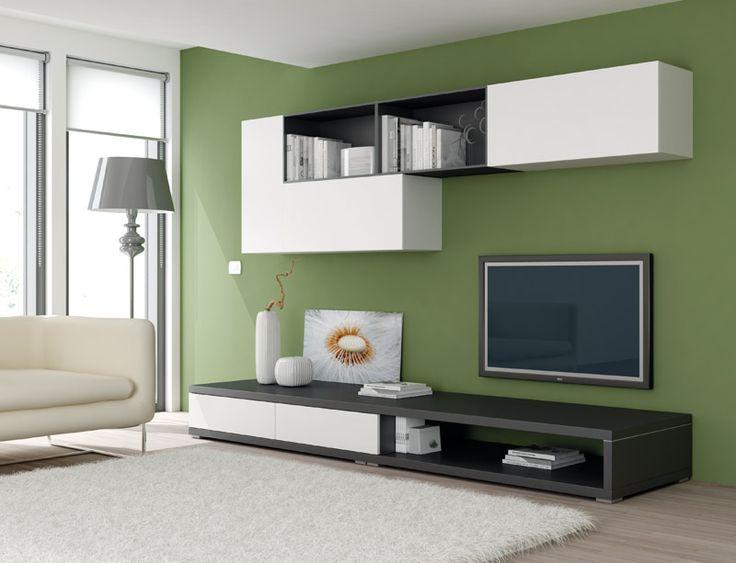 #Soggiorno in essenza frassino bianco e laccato grafite. www.moretticompact.com