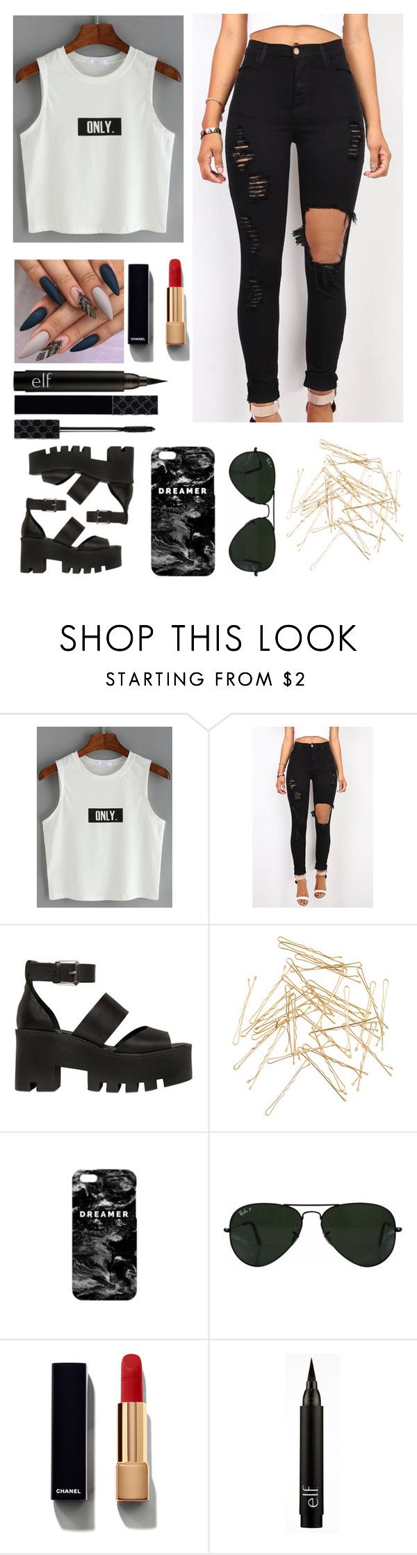 """""""4gksxdbdfafaacjjssi"""" by queen-ken ❤ liked on Polyvore featuring Windsor Smith, Monki, Mr. Gugu & Miss Go, Ray-Ban, Chanel and Gucci"""