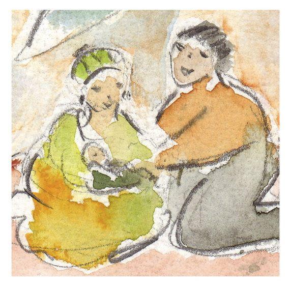 """Watercolour Illustration for """"Joshua"""" handmade book/fariytale by Birgitte Nielsen"""