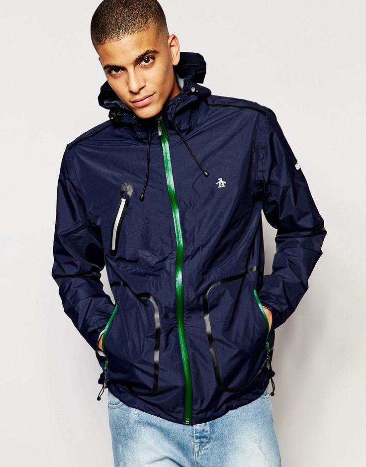 Original Penguin - Leichte Regenjacke - Marineblau - Farbe:Marineblau  #winter #menswear #fashion #germany
