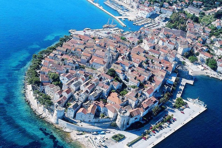 Korčula is an island in the Adriatic Sea, in the Dubrovnik-Neretva County of Croatia.