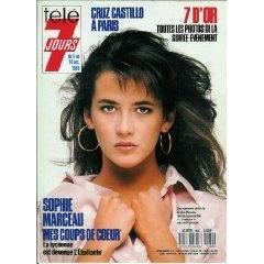 """Sophie Marceau : """"Mes coups de coeur"""" - La lycéenne est devenue """"l'Etudiante"""", dans Télé 7 jours (n°1480) du 08/10/1988 [couverture et article mis en vente par Presse-Mémoire]"""