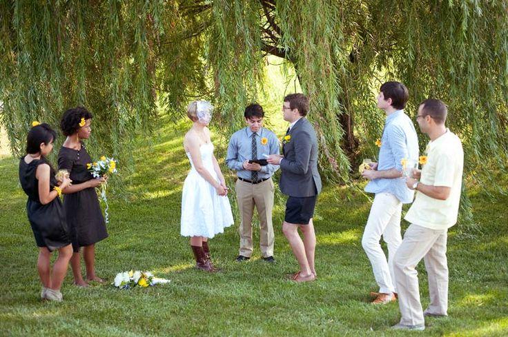 Outdoor Willow Tree Wedding