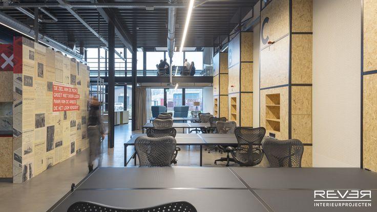 Studio E in de Werkspoorkathedraal. Ontwerp & realisatie door Rever Interieurprojecten. #flexwerken #industrieel #interieur #interior #interiorinspiration #flexworking