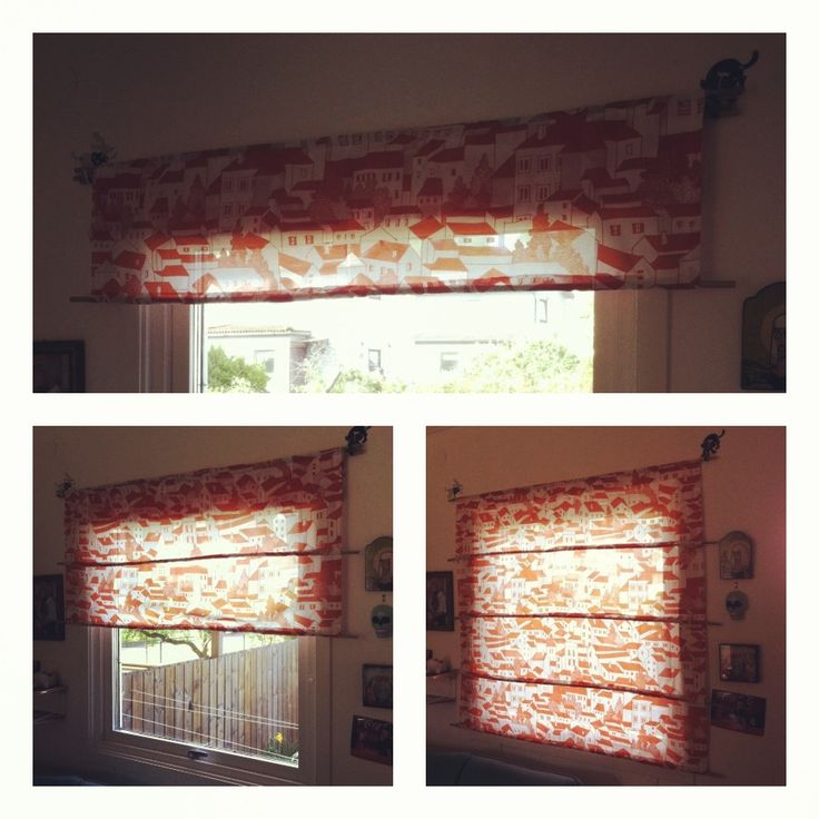 A curtain in my living room. I sew channels and put bamboo sticks in them to adjust length with.