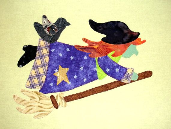 Halloween+Witch+Quilt+Block+by+zizzybob+on+Etsy,+$8.50