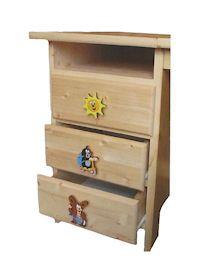 Möbelknöpfe mit dem kleinen Maulwurf und seinen Freunden. Möbelknöpfe bzw. Möbelgriffe verschönern Möbelstücke im Kinderzimmer.