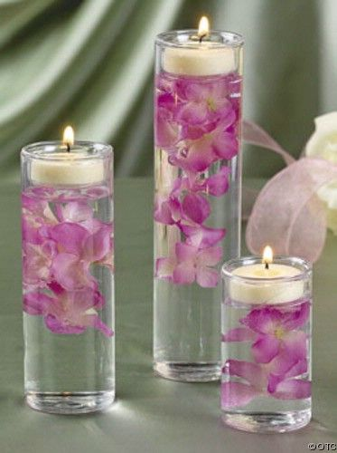 Set of 3 Glass Cylinder Tealight Holder Ceremony Vase ...