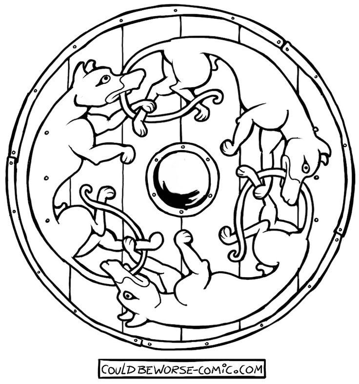 Wildhunt Viking/Norman shield, three dogs.