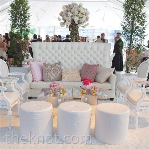 Romantic White Lounge Area