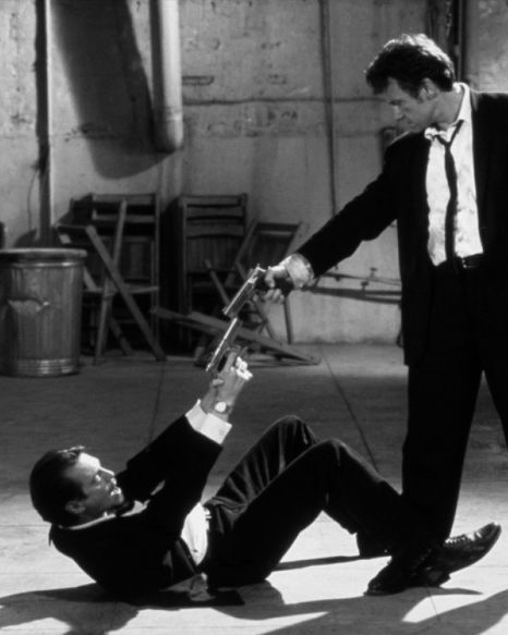 "Harvey Keitel and Steve Buscemi in Quentin Tarantino's ""Reservoir Dogs."""