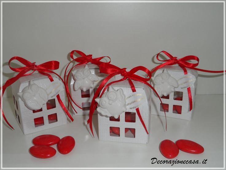 Scatolina lanterna porta confetti, bomboniera laurea. #laurea #bomboniere #gessiprofumati #gufi #bomboniereonline #lanterna