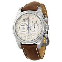 Omega De Ville Co-Axial Chronoscope Silver Dial Stainless Steel Brown Leather Mens Replica Watch 4850.30.37