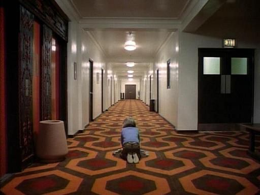 The Shining. One of the most iconic corridor veins that wrap around the dark heart ballroom