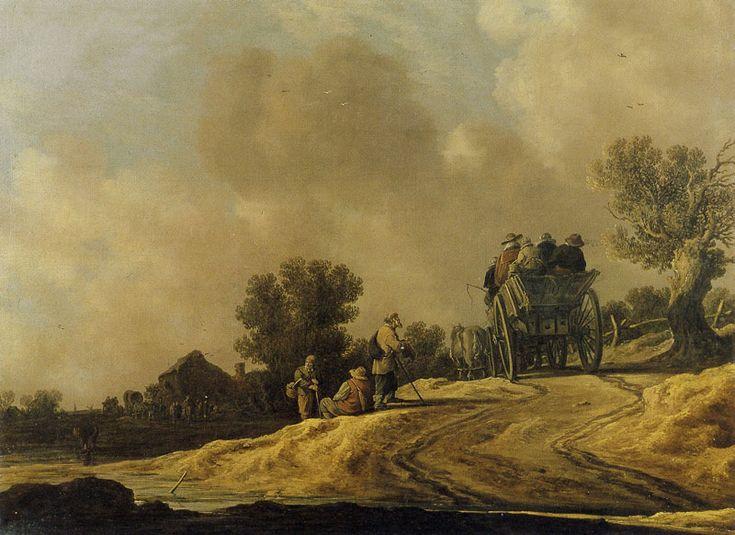 Jan van Goyen - Zandweg met boerenkar