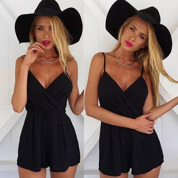 This cute playsuit with spaghetti straps is perfect for the beach.