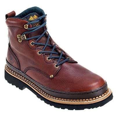 Georgia boots, soggy brown, steel toe