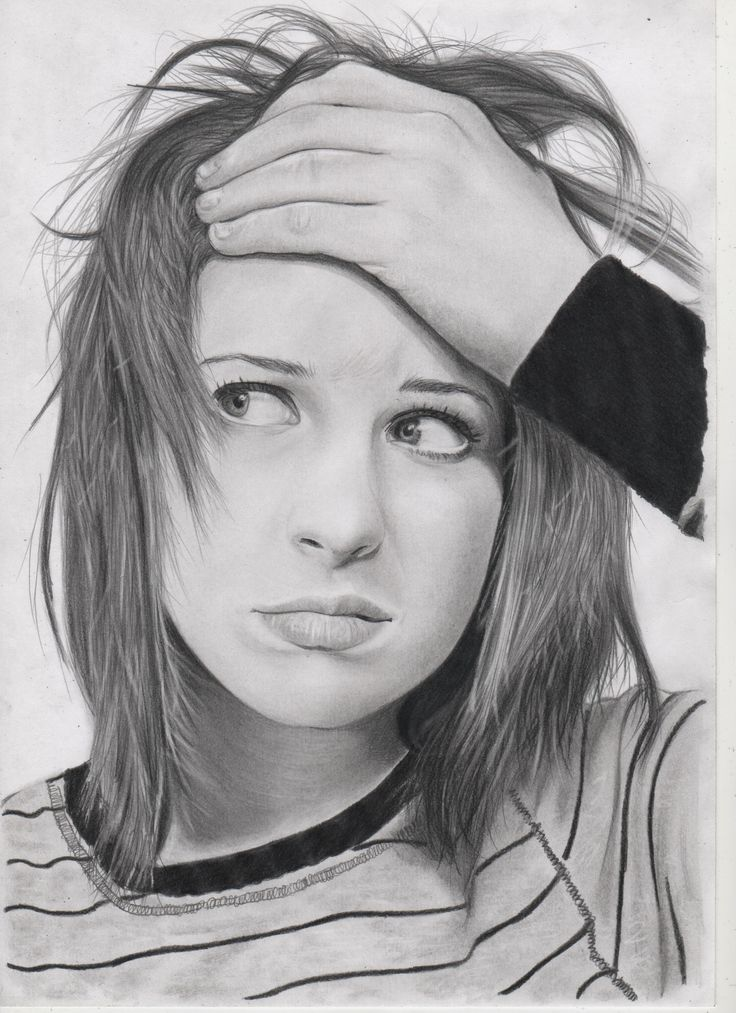 Hayley williams pencil on paper fb https www