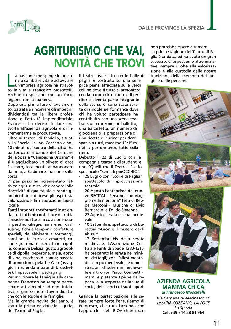 """Buongiorno a tutti! Oggi vogliamo condividere con voi questa paginetta tratta dalla rivista: """"Terra di Liguria di Settembre/Ottobre"""" che ci rende molto orgogliosi. Grazie a tutti i partecipanti che hanno reso possibile vivere un'esperienza unica e coinvolgente.  Potete trovare tutta la rivista seguendo il seguente link: http://www.cialiguria.org/news/id/973/cat/0/tip/1/On-line-il-nuovo-numero-di-Terra-di-Liguria-settembre-ottobre.html"""