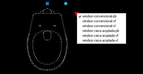 AutoCAD :: Bloco Dinâmico :: Bacia Deca :: Windsor