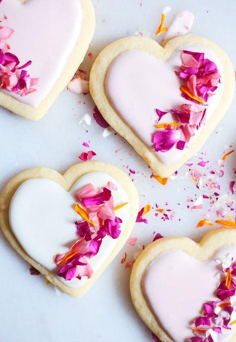 lemon sugar cookies with edible flowers sprinkles