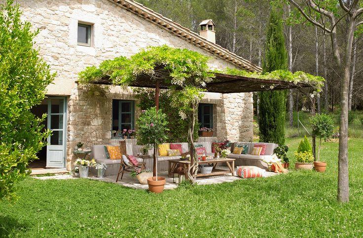Un porche renovado · ElMueble.com · Casa sana #garden