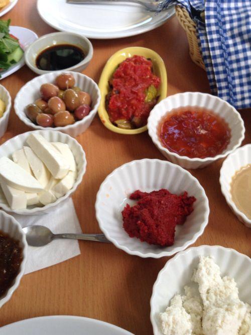 https://retireturkey.wordpress.com/2015/02/28/traditional-turkish-breakfast-at-akkoy/  Traditional Turkish Breakfast in a Village by the Sea