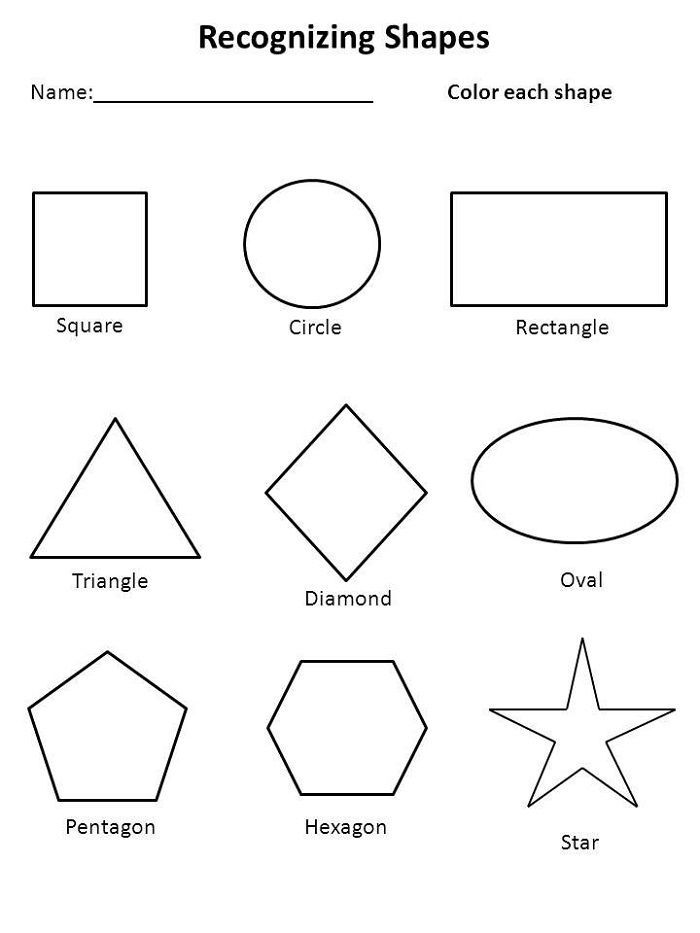 Free Toddler Worksheets Shape   Learning Printable   Kids Worksheets ...