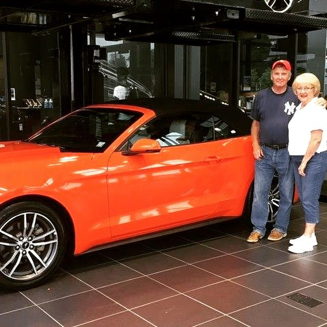 Congratulations George & Lynn on your 2016 Ford Mustang convertible! We hope you enjoy your car for many miles!  • • • • • #MINIofDutchessCounty #DrivePrestige #Ford #Mustang #orange #LetsMotor #MotorOn #DutchessCounty #HudsonValley #NewYork