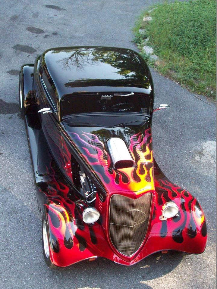 (1934 Ford Flamed Hot Rod..Brought to you by #CarInsurance Agents at #houseofinsurance in Eugene, Or.
