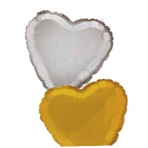"Heart Shaped 18"" Mylar Balloons"