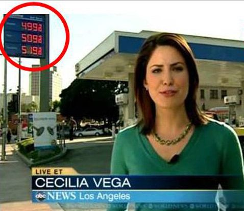 Price Shock: Watch Cost of Gas Jump 10 Cents During ABC's 'World ...