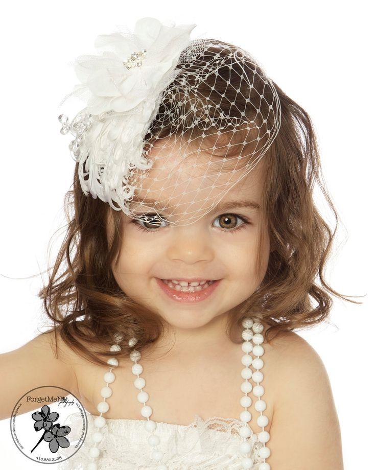 Vintage Headband, Christening Headband, Baptism Headband, Flowergirl Headband. $15.00, via Etsy.