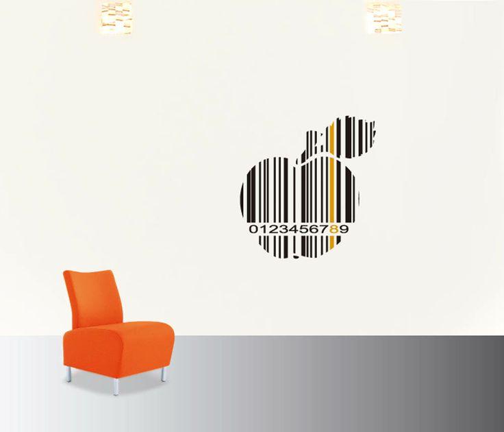 apple barcode #decoraconvinil #vinilosdecorativos #decoracion #decoratupared #barcode #manzana #vinilmoderno
