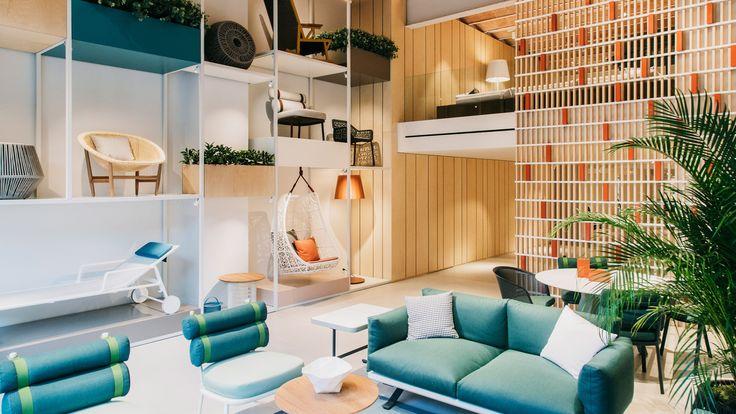 Patricia Urquiola's showroom interior for Kettal celebrates Mediterranean outdoor living