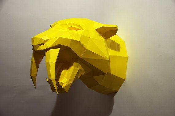 Build your own Sabertooth Tiger Trophy