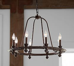 Ornate Iron Ring Chandelier
