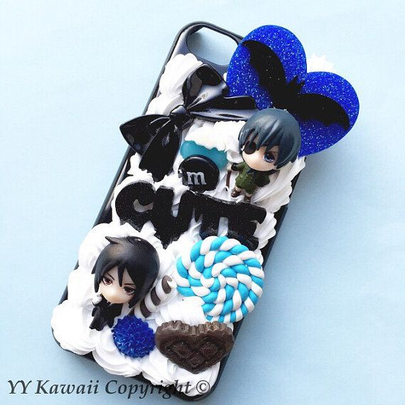 Custom kawaii anime manga Black Butler Phonecase for Iphone 4/4s 5, Samsung Galaxy S5 S3 S4 Note, HTC Got to LOVE this! You have to!!