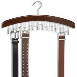 Walnut 12 Belt Hardwood Hanger