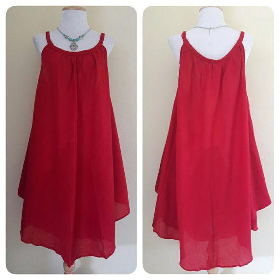 Vestidos sueltos y rojo vestido/Casual/verano por MadeDress en Etsy