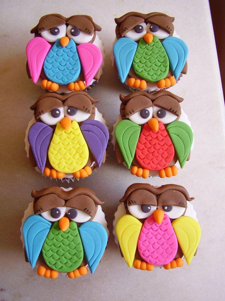 .Fondant Owl Cake Topper Owl Cake birthday party girl boys kids kid chil children Owls Owl hibou gateau